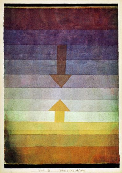Klee, Paul: Separation in the Evening. Fine Art Print/Poster. Sizes: A4/A3/A2/A1 (001460)